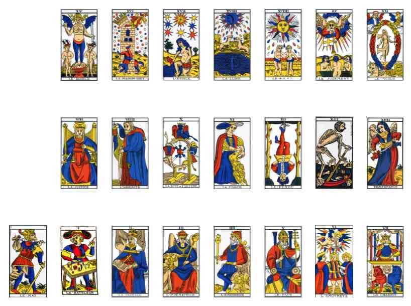 carte tarot de marseille Les 78 cartes du tarot de Marseille   Le Tarot de Marseille